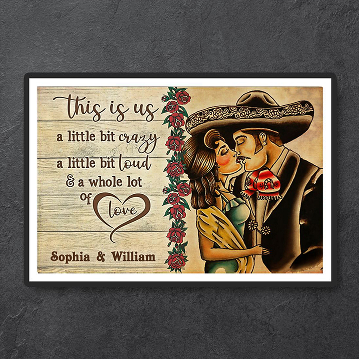 Personalized custom name mexican couple this is us poster A1