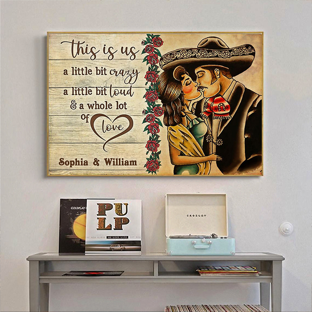 Personalized custom name mexican couple this is us poster A2