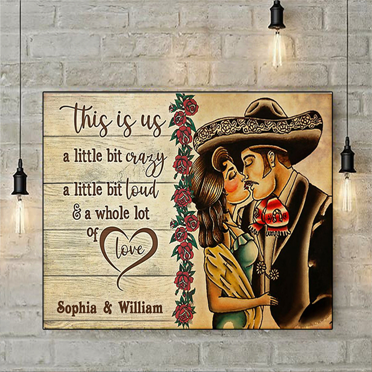 Personalized custom name mexican couple this is us poster A3
