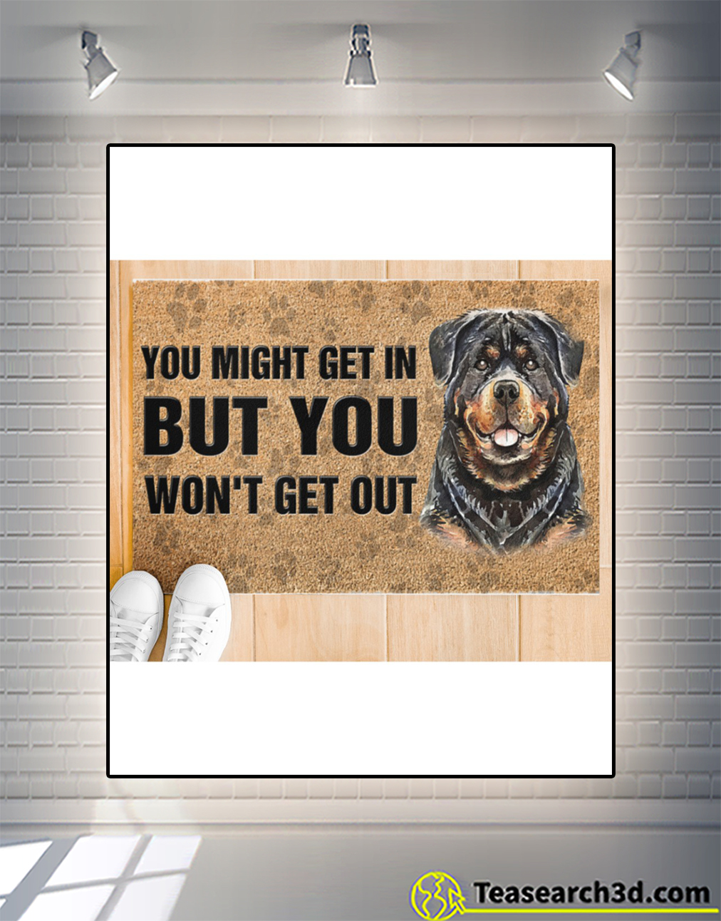 Rottweiler you might get in but you won't get out doormat M