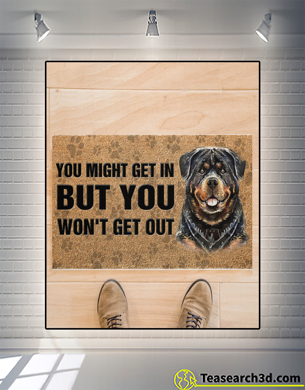 Rottweiler you might get in but you won't get out doormat S