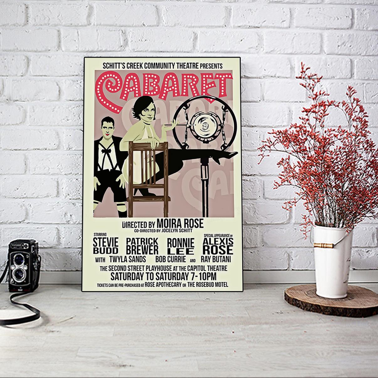 Scitt's creek community threatre presents Cabaret poster A2