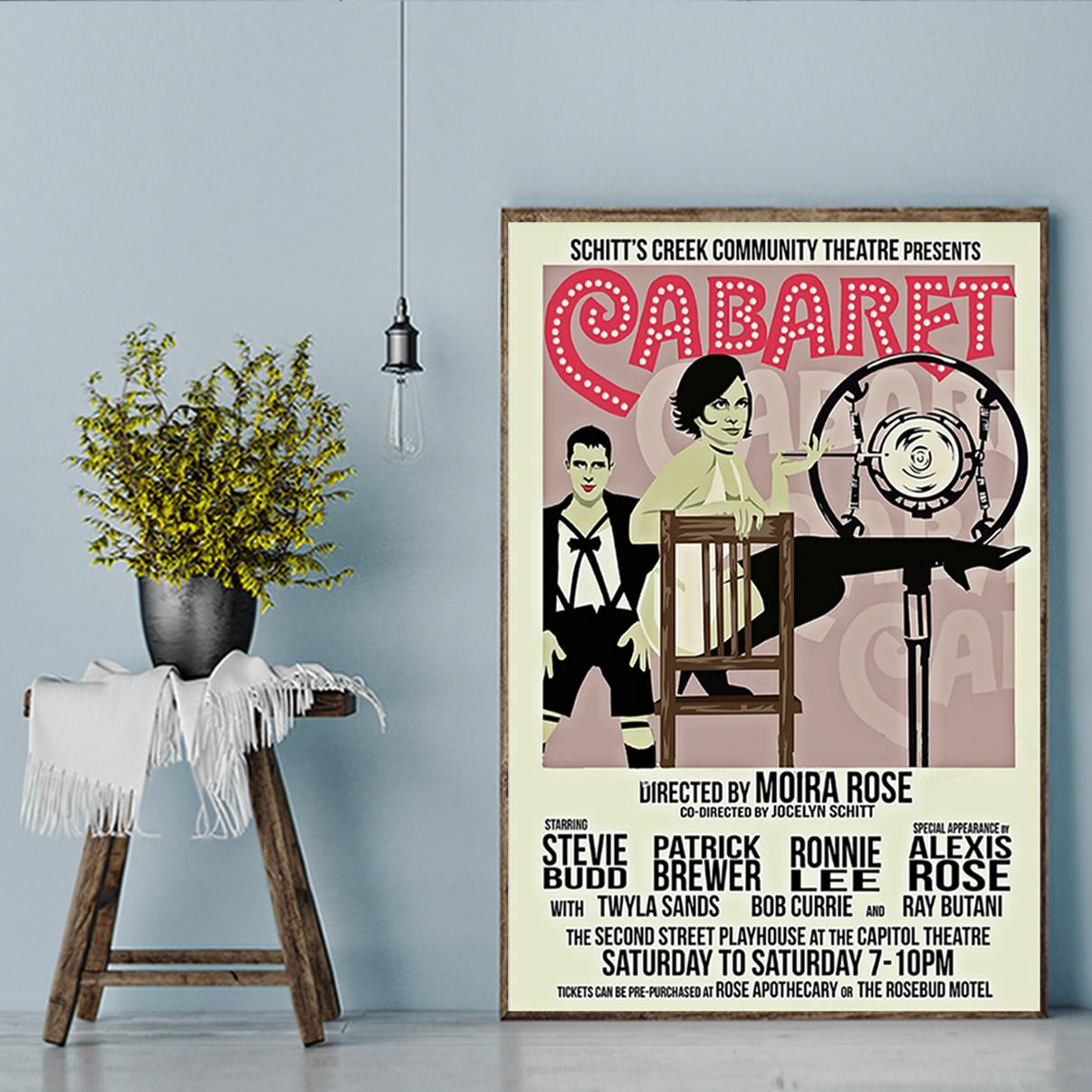 Scitt's creek community threatre presents Cabaret poster A3