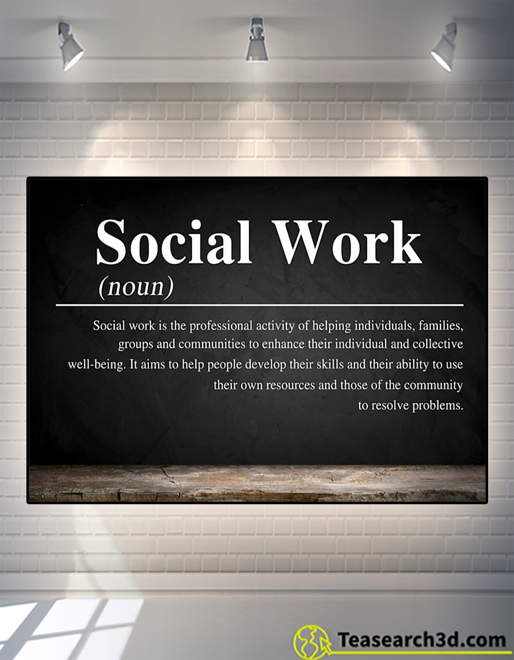 Social work definition poster