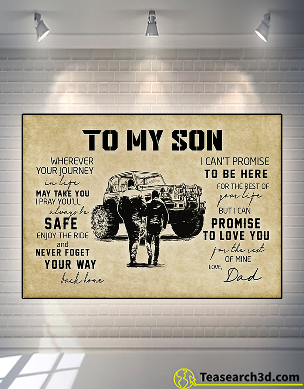 Tractor to my son love dad poster