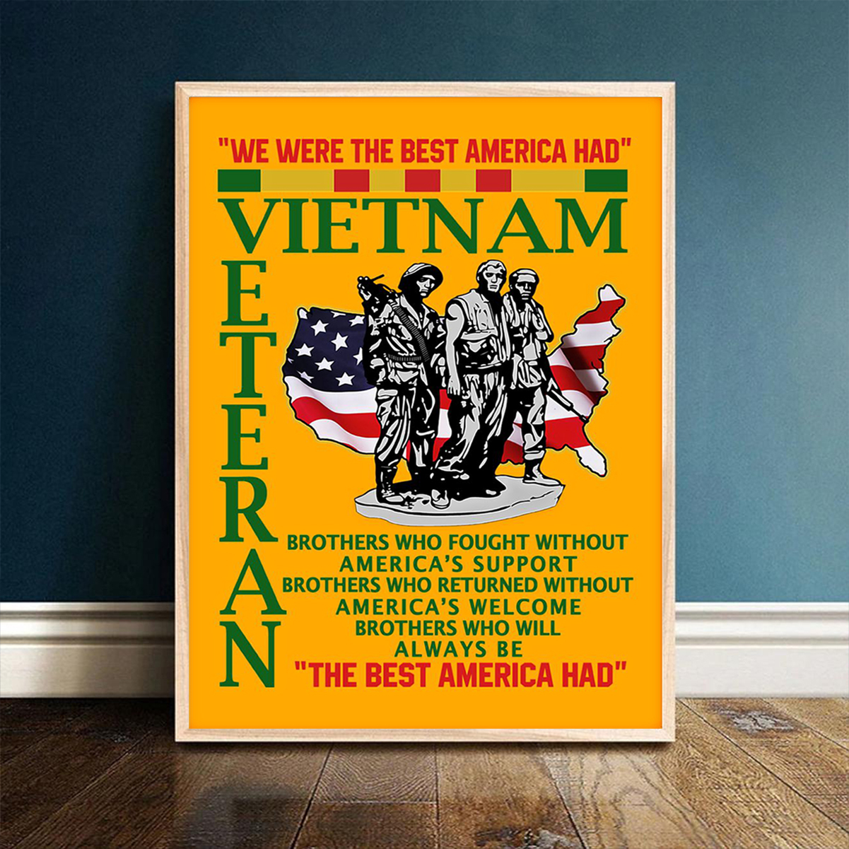 Vietnam veteran the best american had poster A1