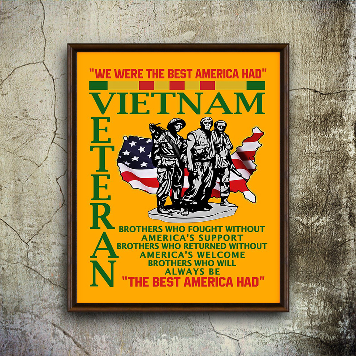 Vietnam veteran the best american had poster A2