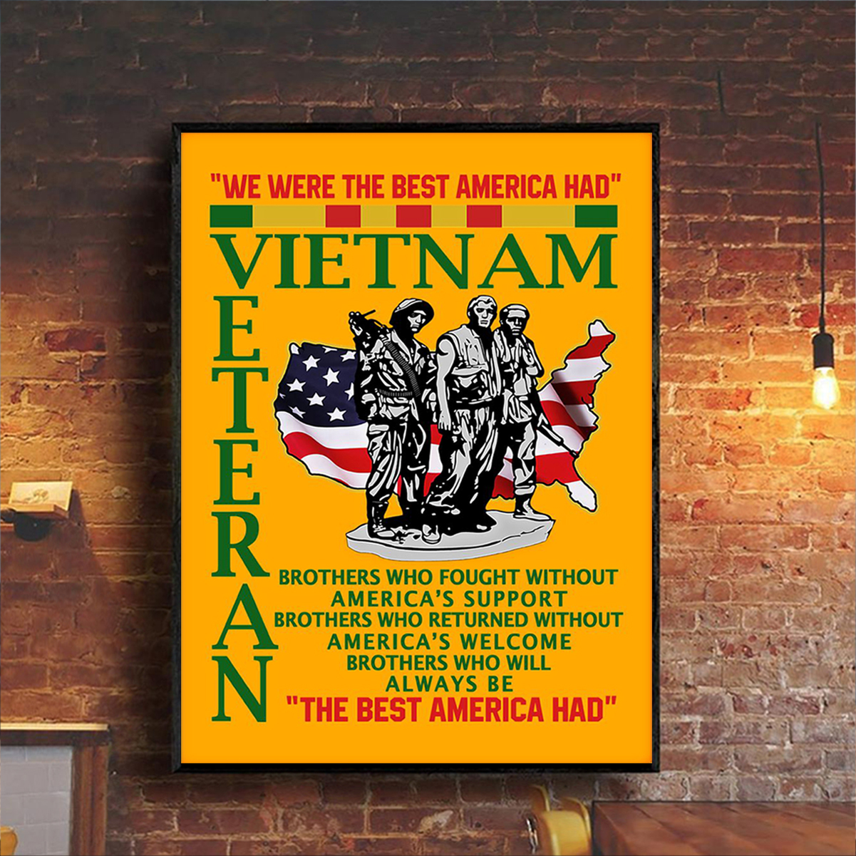 Vietnam veteran the best american had poster A3