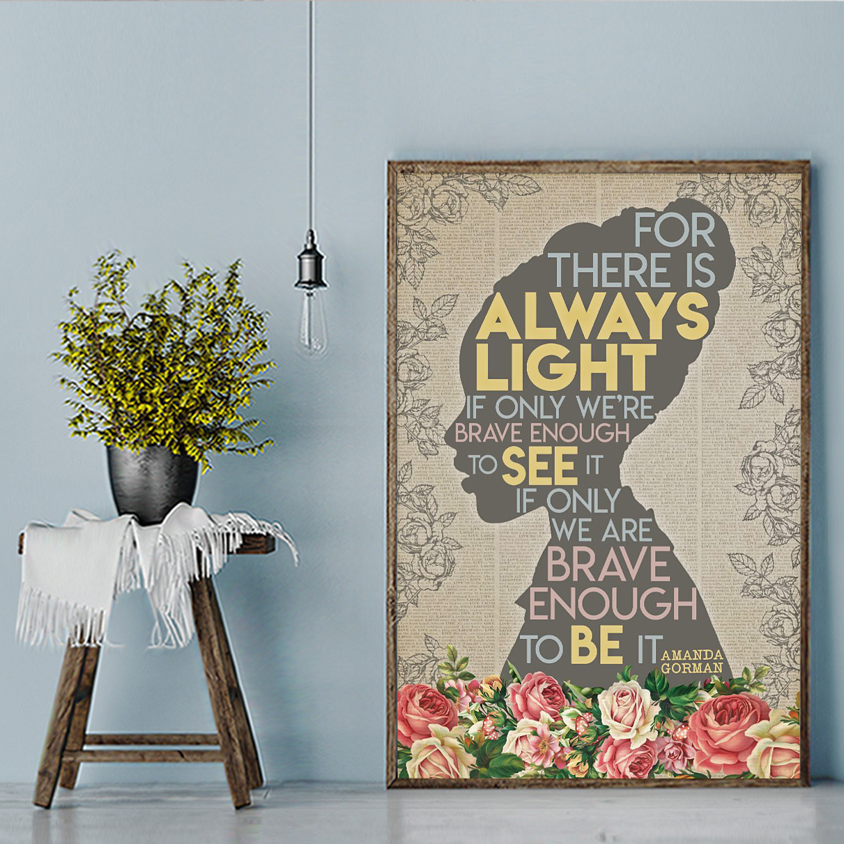 Amanda gorman for there is always light poster A1