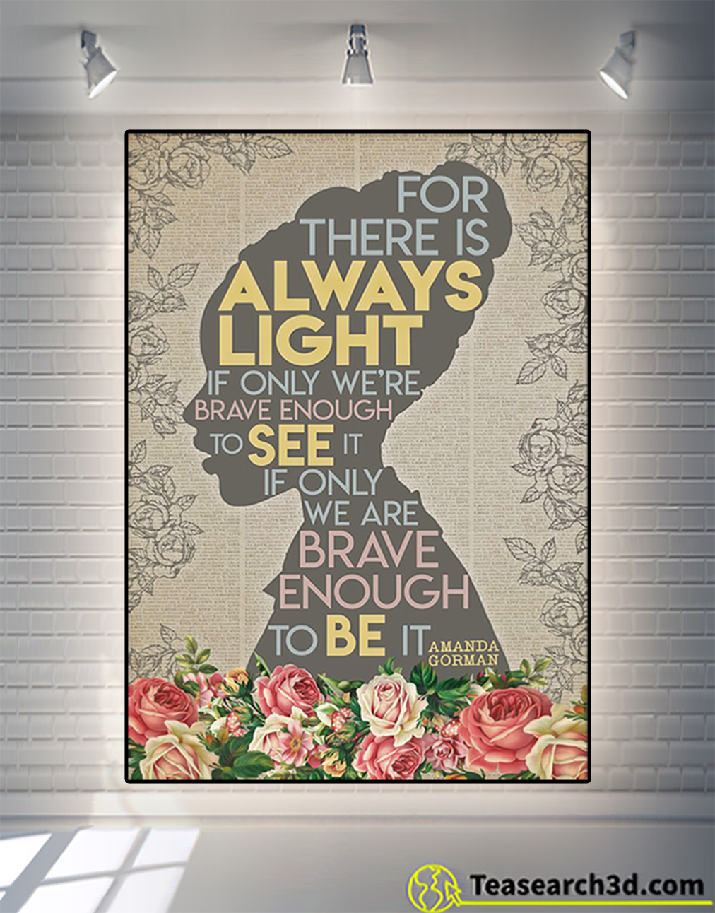 Amanda gorman for there is always light poster
