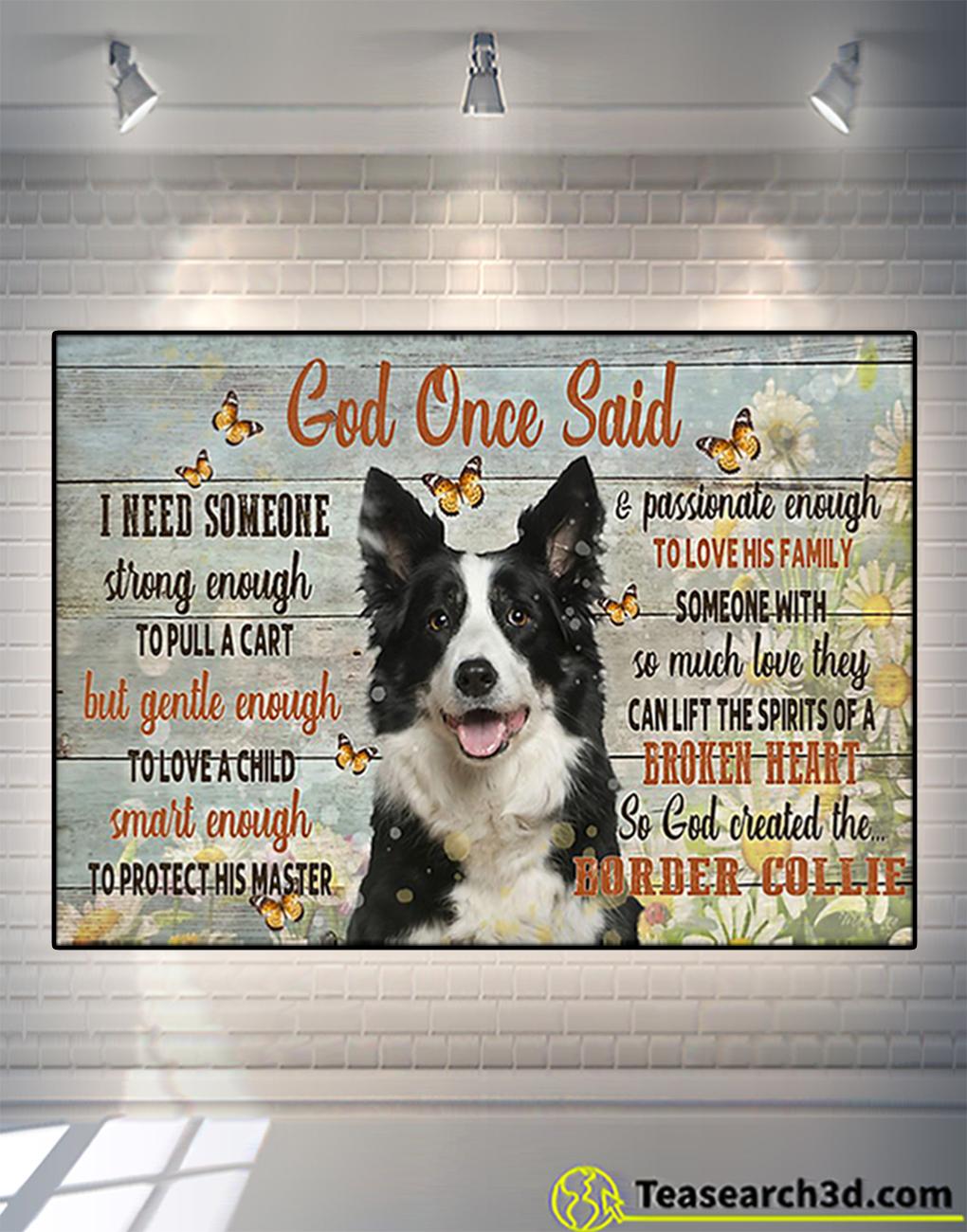 Border collie god once said poster