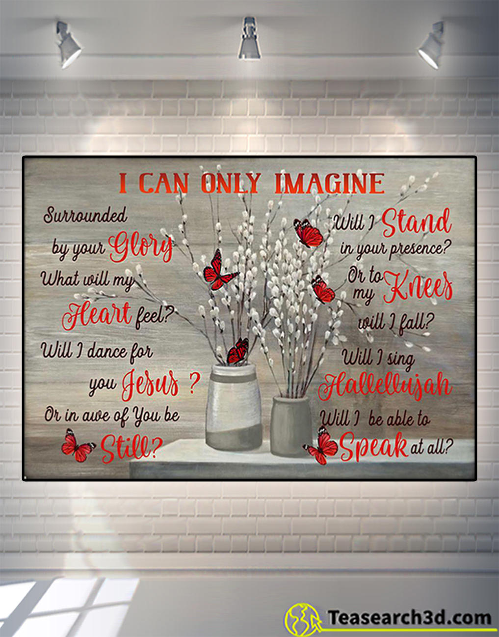 Butterfly I can only image poster