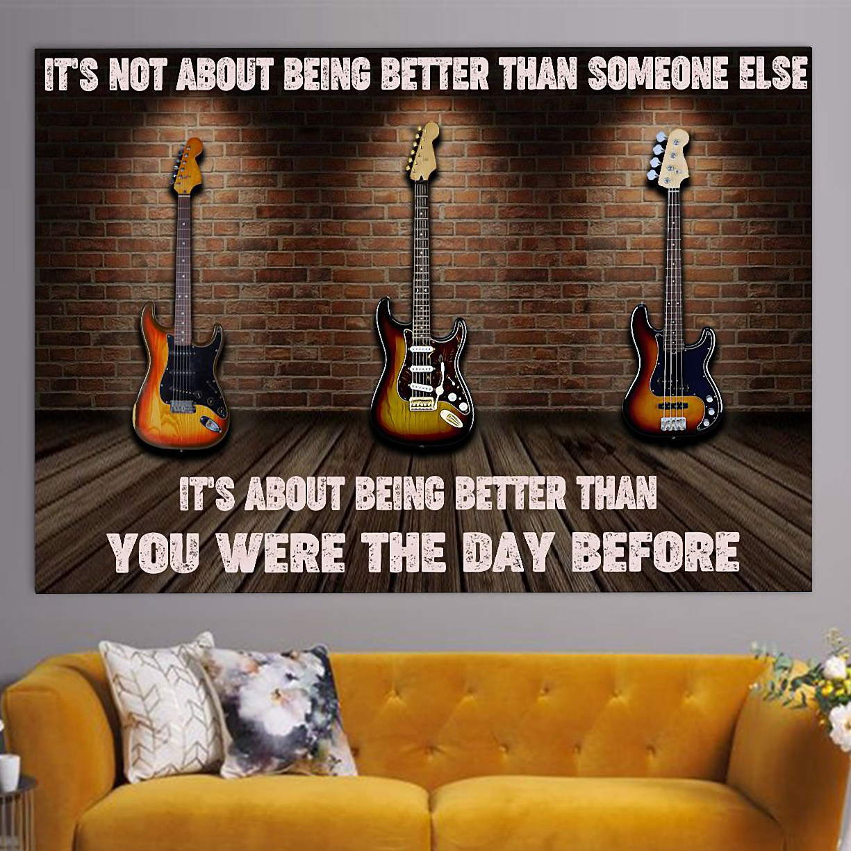 Electric guitar it's not about being better than someone else poster A1