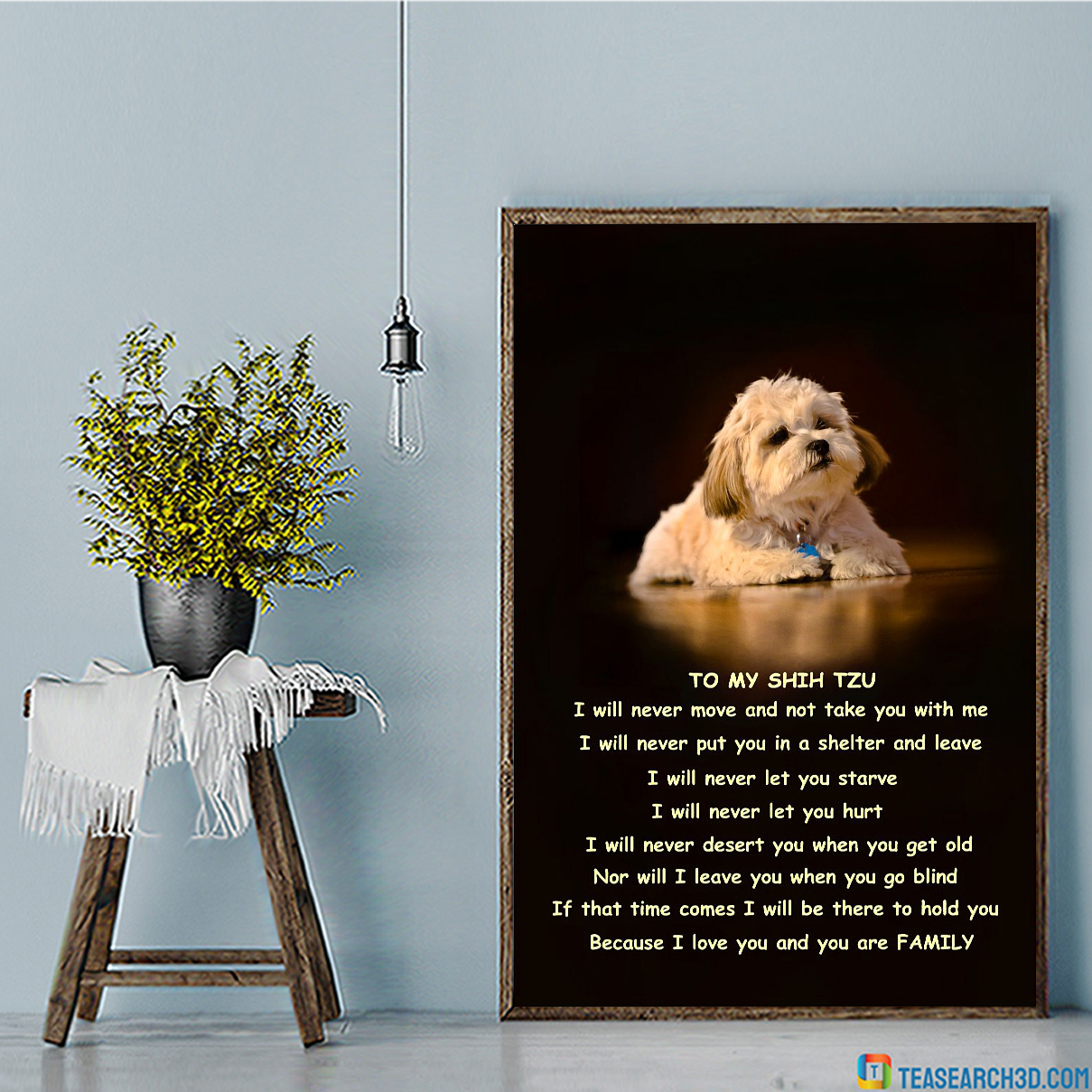 Family to my shih tzu poster A1