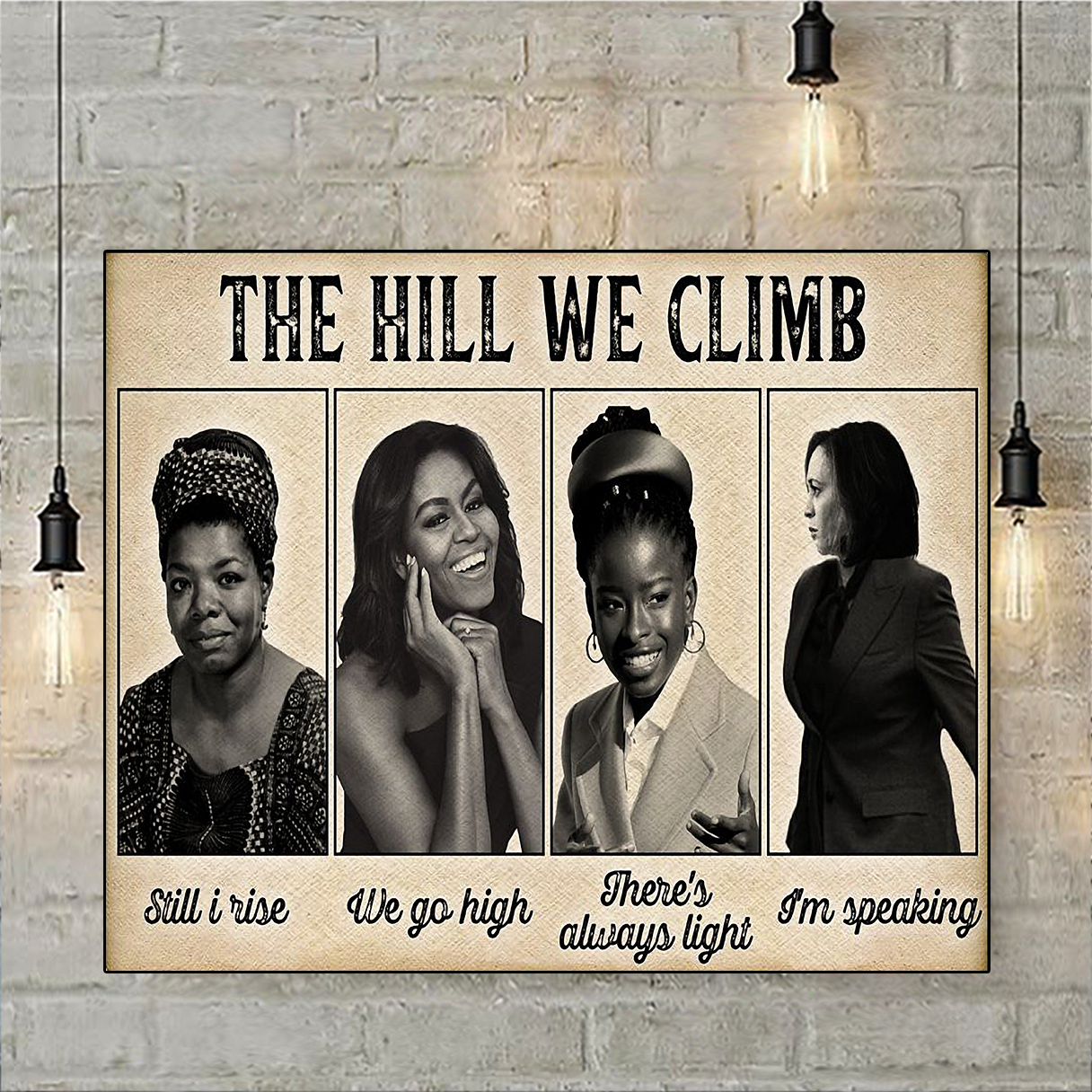 Famous feminist the hill we climb poster A3