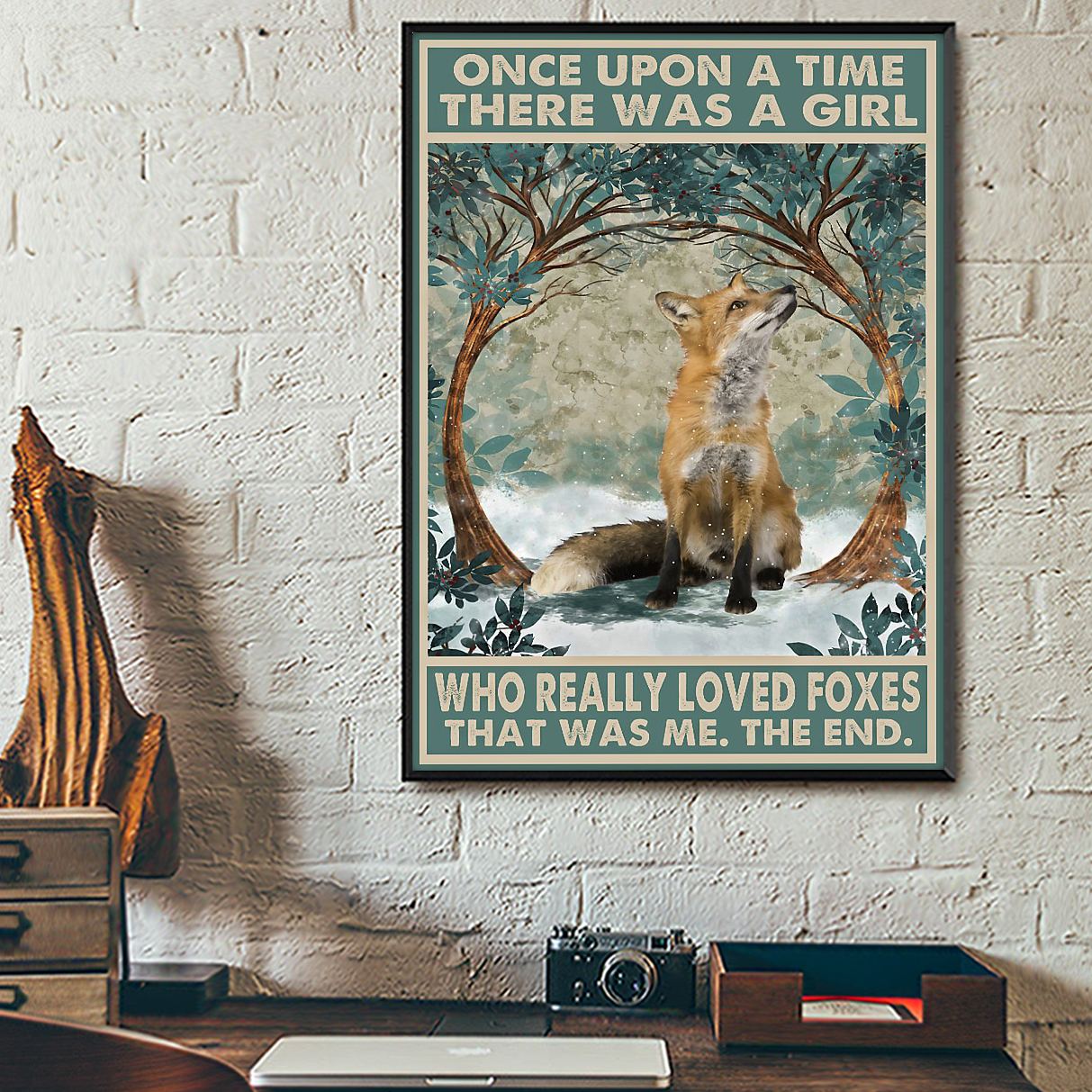 There was a girl who really loved foxes poster
