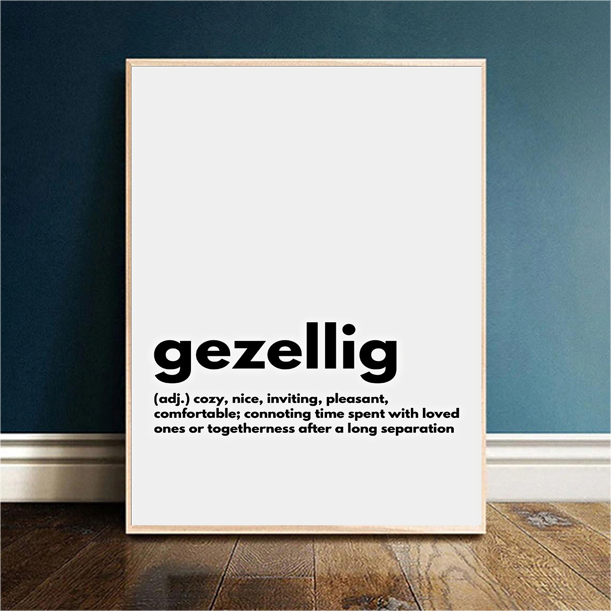 Gezellig definition cozy nice inviting poster A2