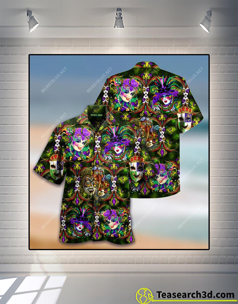 Happy mardi gras 2021 hawaiian shirt