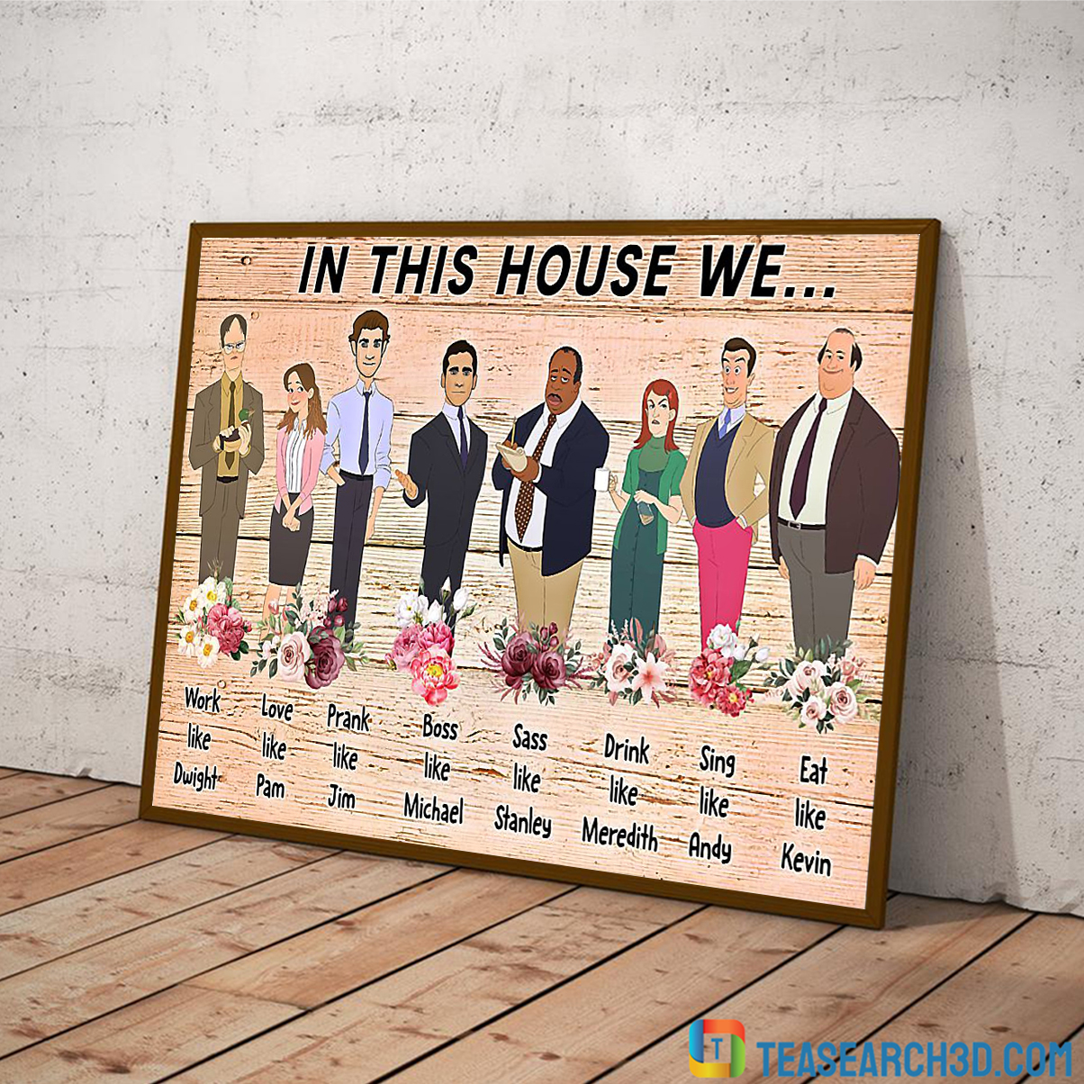 In this house we the office poster 1