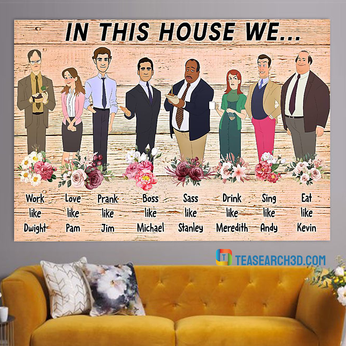 In this house we the office poster A4