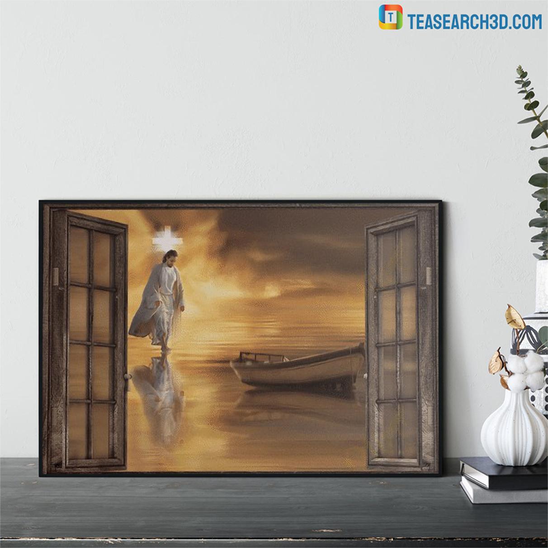 Jesus through the windows canvas 1