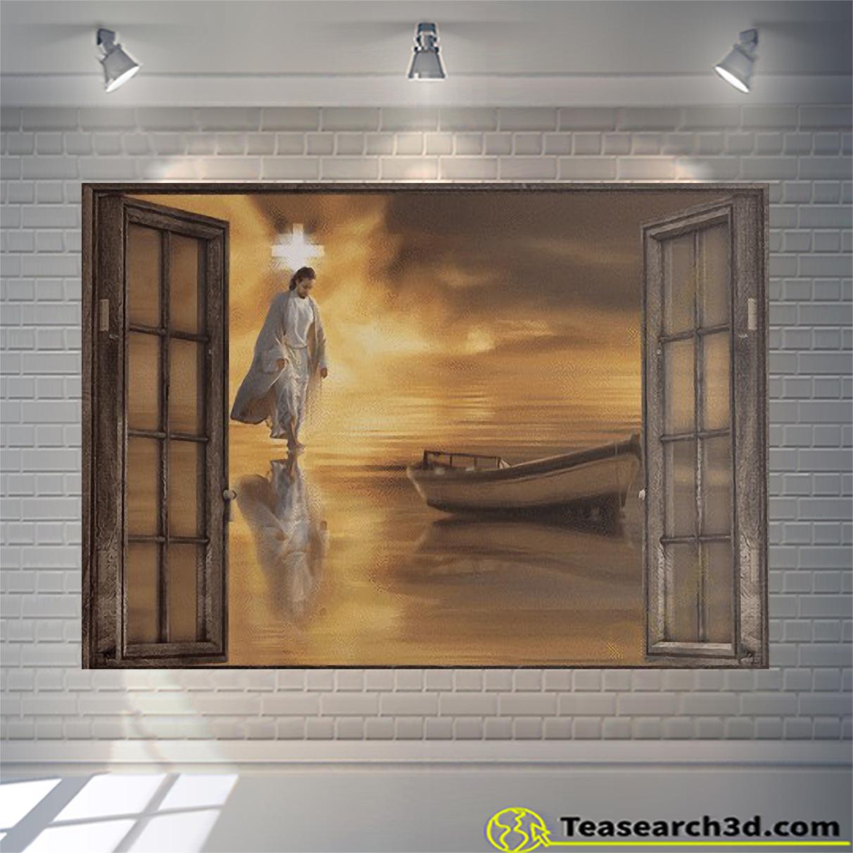 Jesus through the windows canvas large