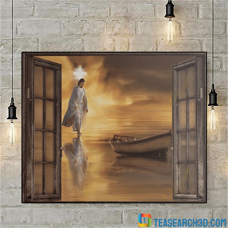Jesus through the windows canvas small