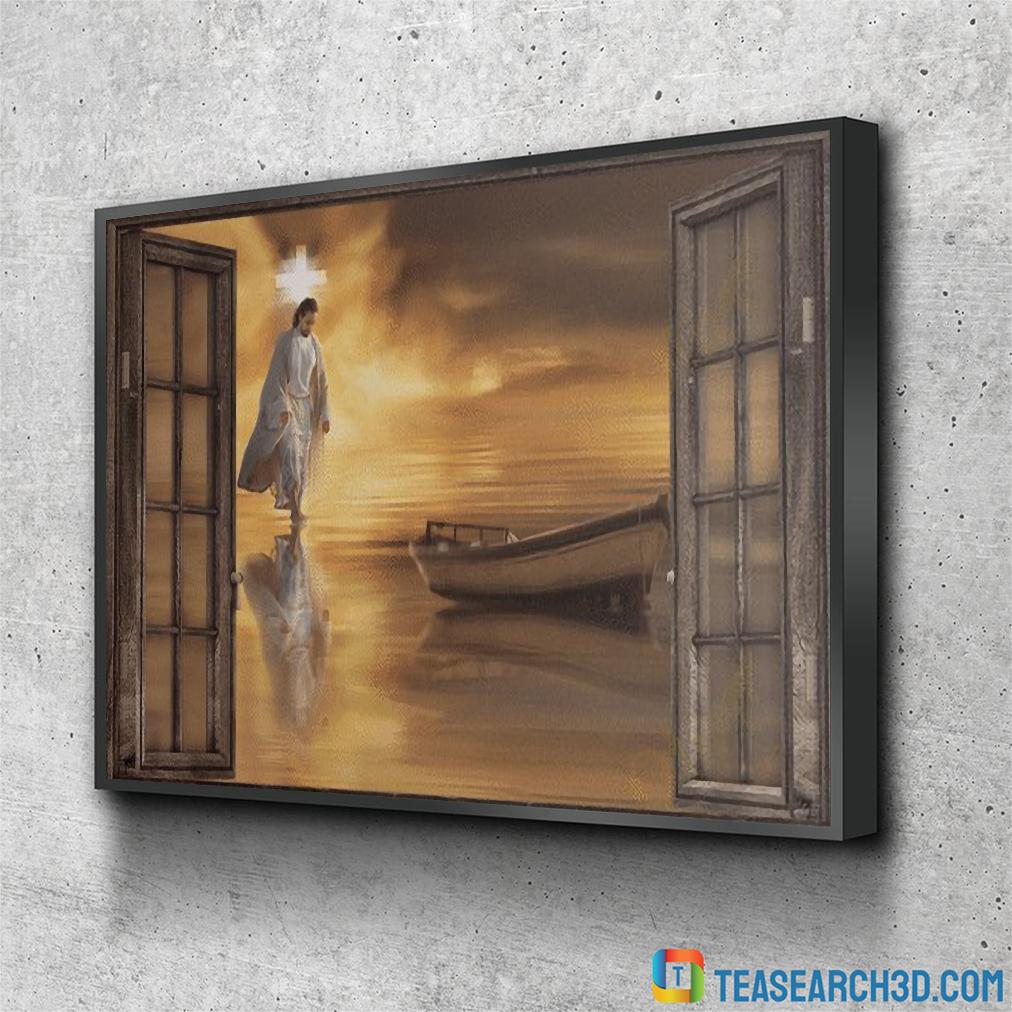 Jesus through the windows canvas