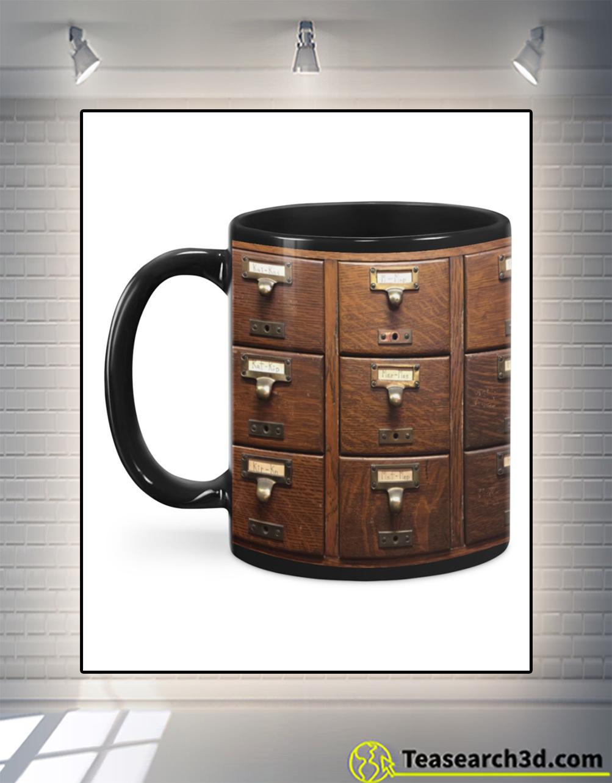 Librarian bookshelves mug