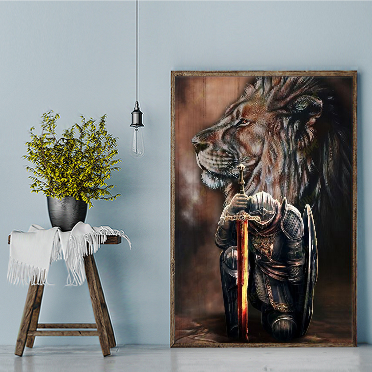 Lion Warriors I am the storm canvas large