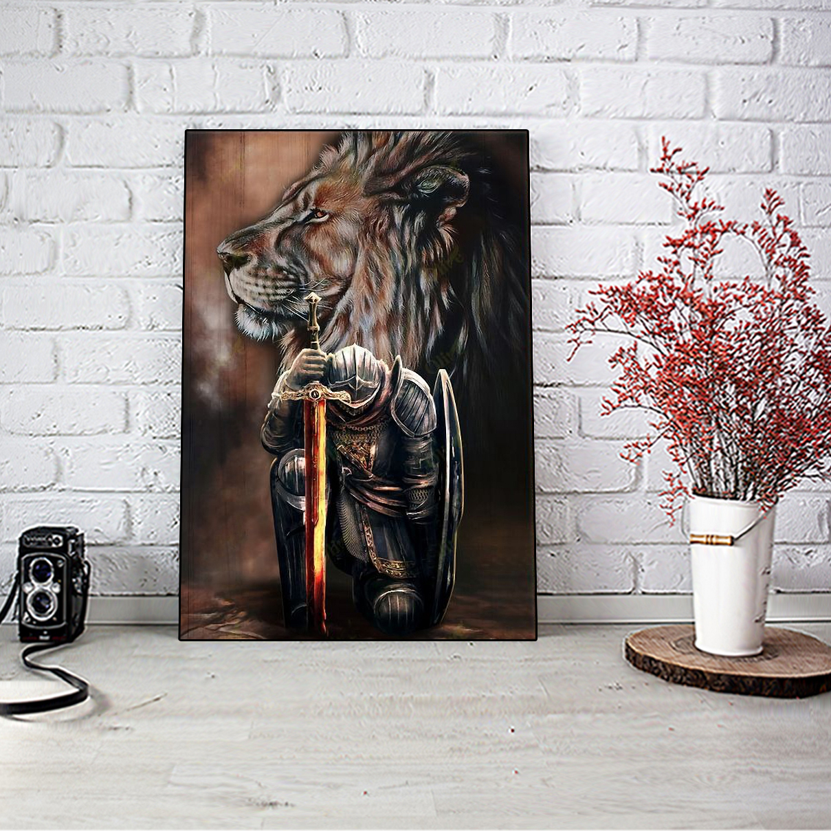 Lion Warriors I am the storm canvas small