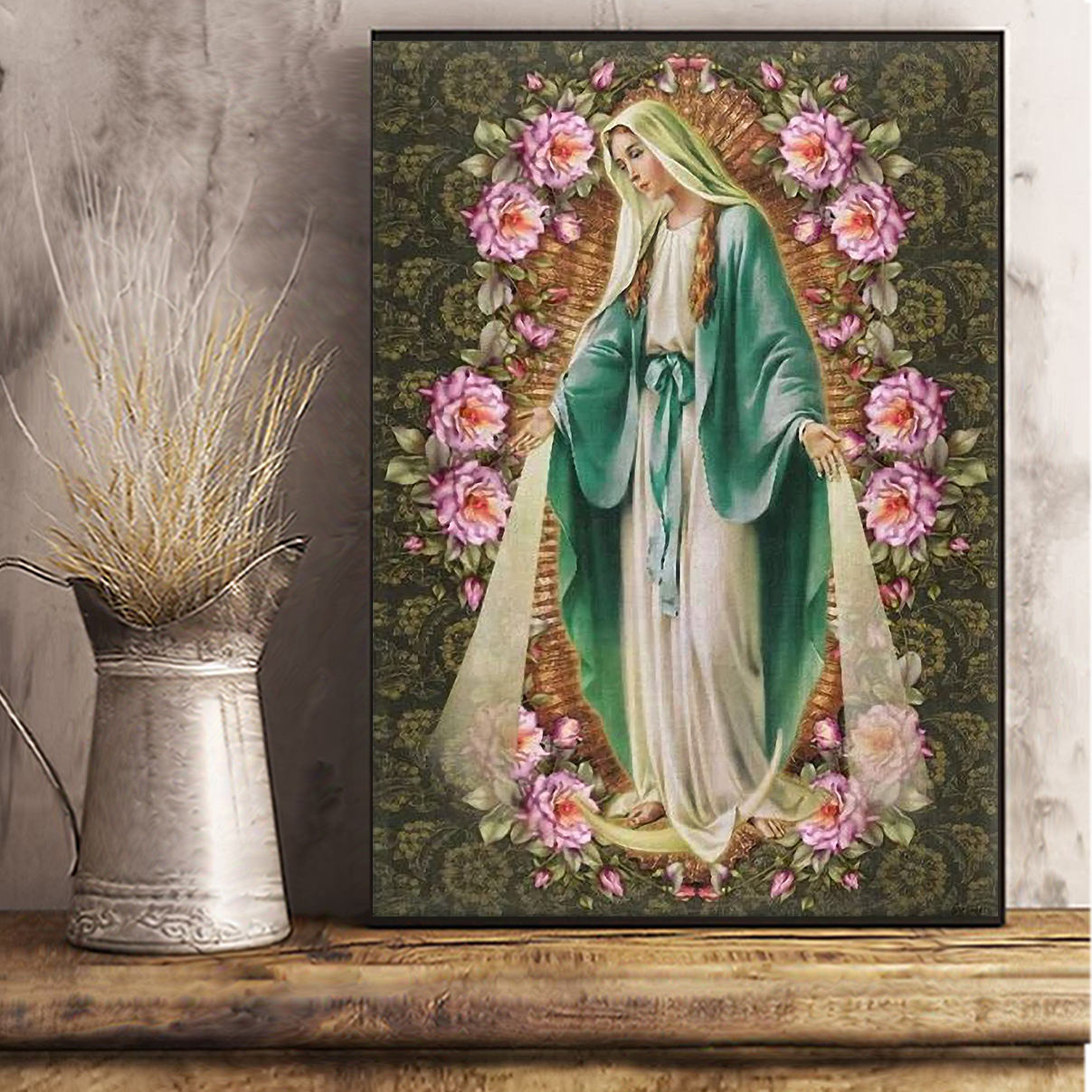 Our lady immaculate conception of mary canvas large