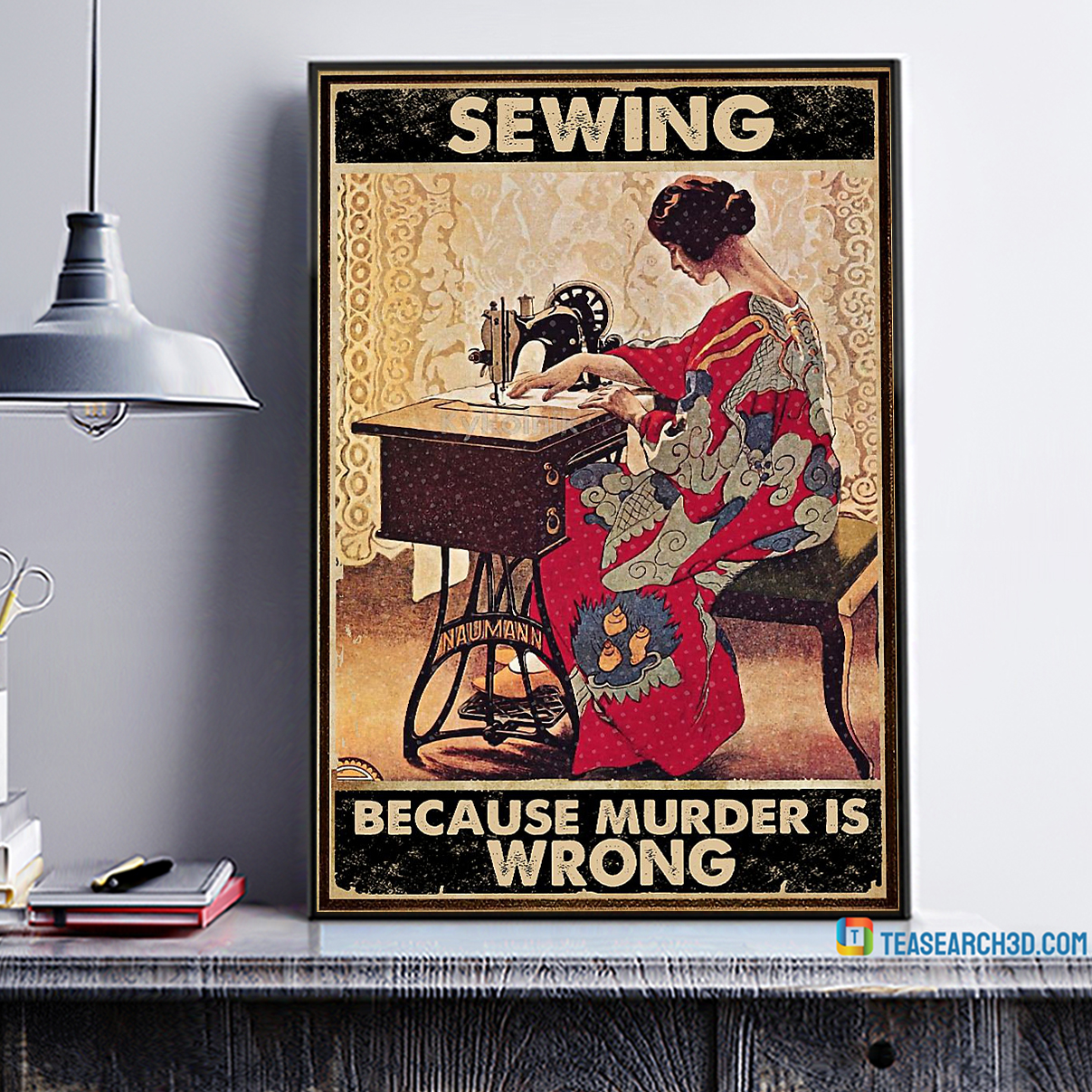 Sewing Because Murder Is Wrong canvas