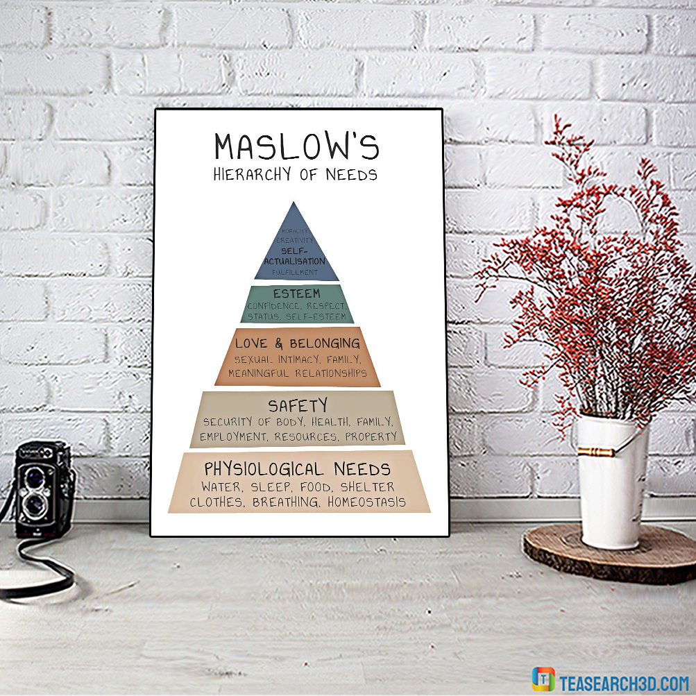 Social worker maslow's hierarchy of need vertical poster