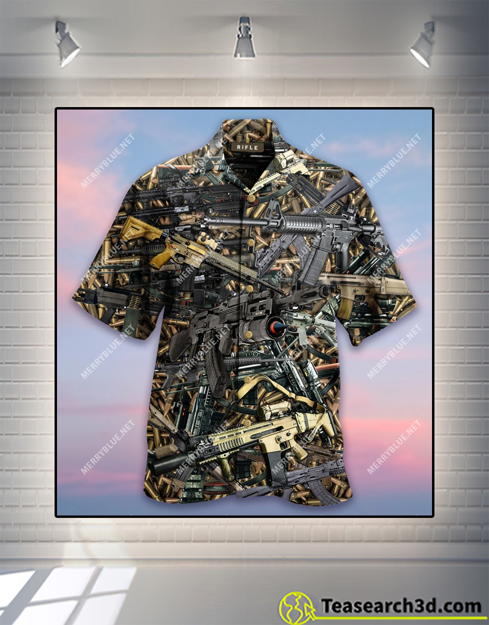 The quickest way to a man's heart is 2970 feet per second hawaiian shirt