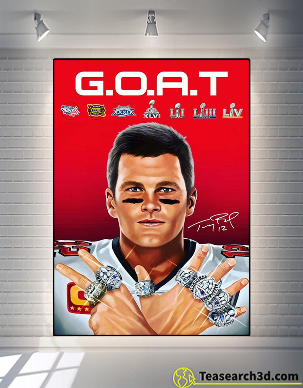 Tom Brady 2021 goat signature poster