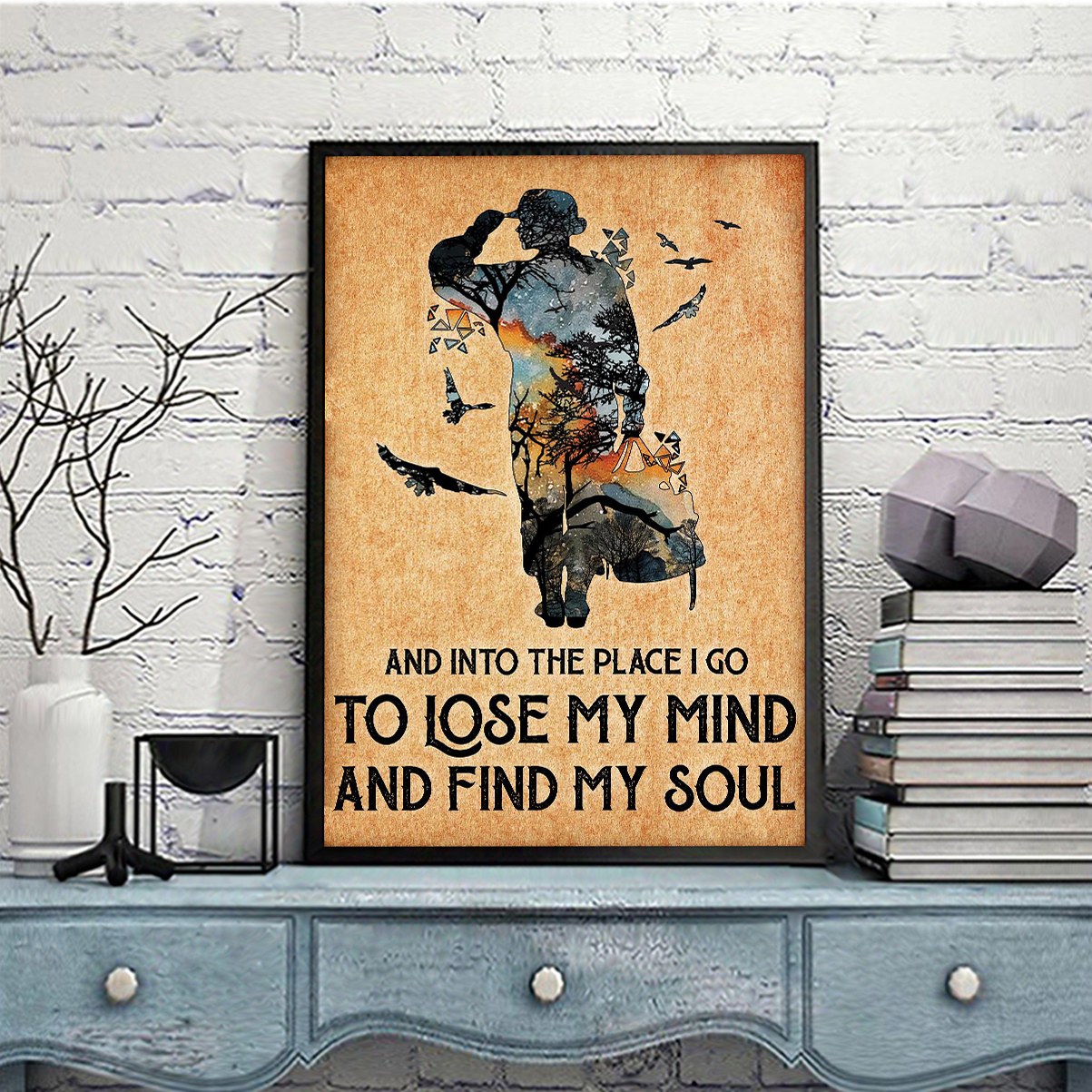 Veteran and into the place I go to lose my mind and find my soul poster A2