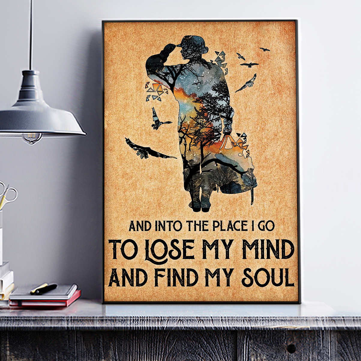 Veteran and into the place I go to lose my mind and find my soul poster A3
