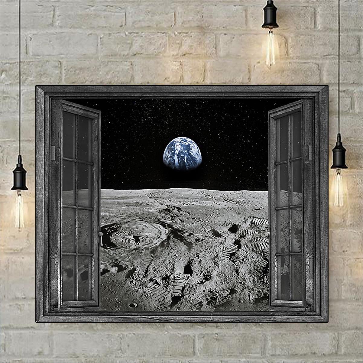 Window astronaut poster A3