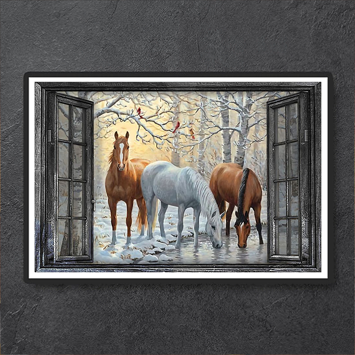 Window horse poster A1