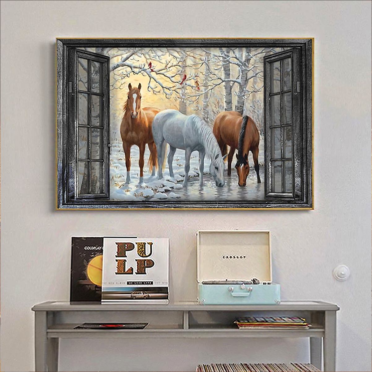 Window horse poster A2