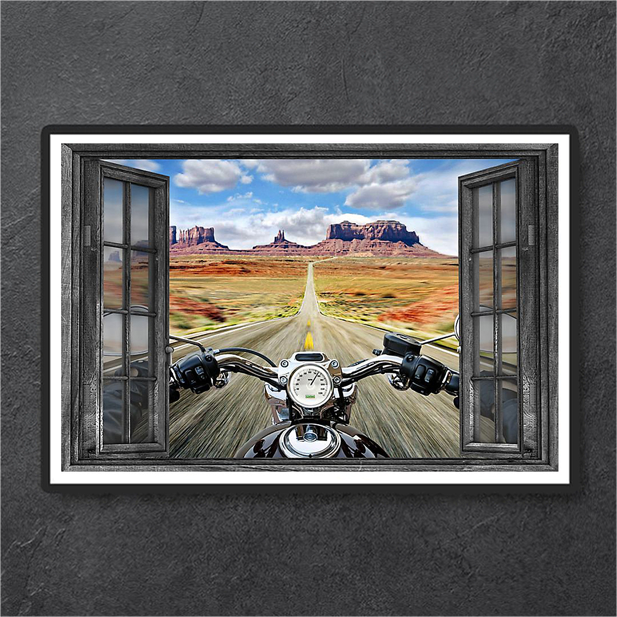 Window motorcycle poster A1