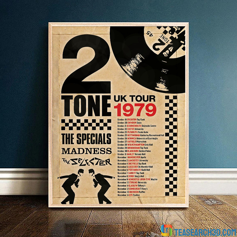 2 tone the specials madness the selecter uk tour 1979 poster