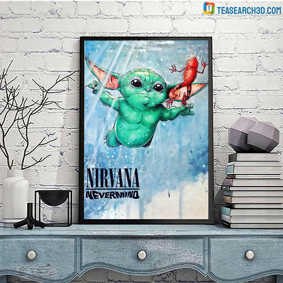 Baby yoda nirvana nevermind poster