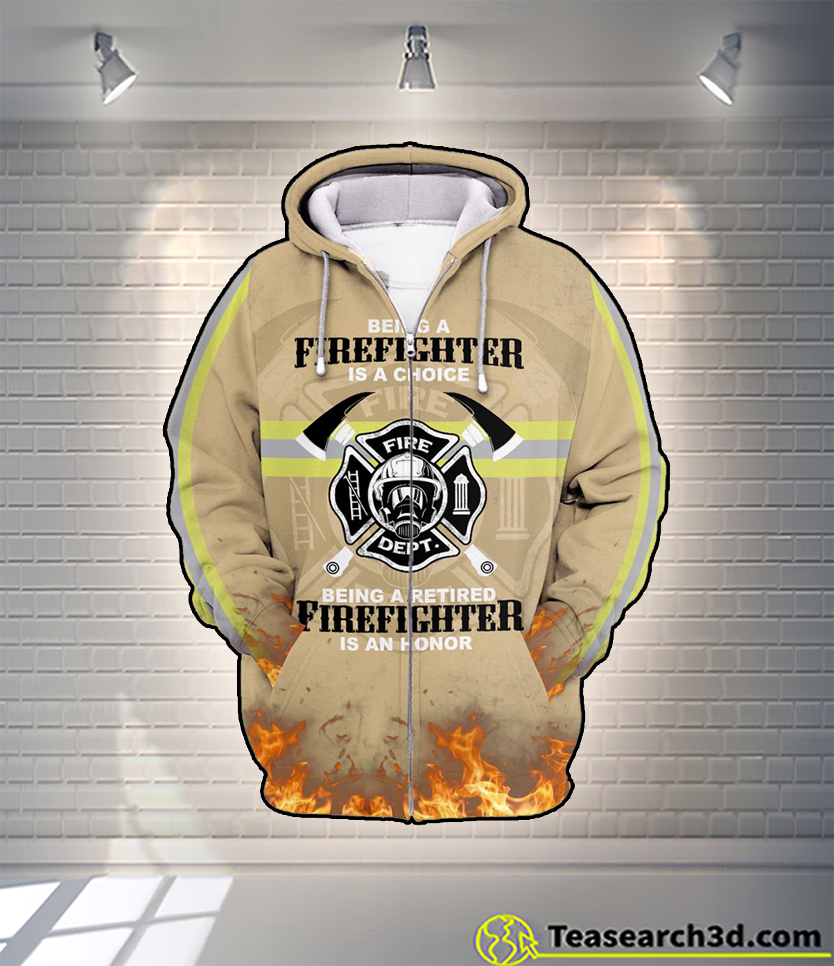 Being a firefighter is a choice all over printed 3d hoodie and zip hoodie