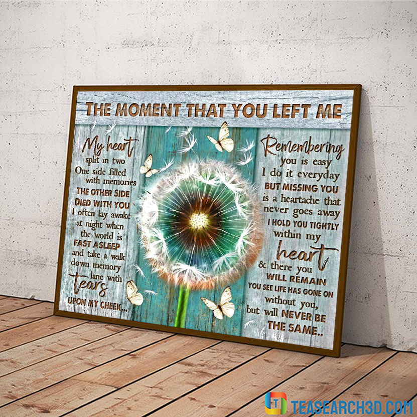 Butterfly dandelion the moment that you left me canvas medium