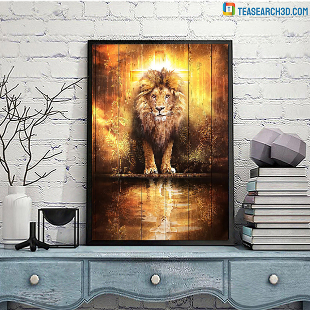 Christians are always strong lion and lamp poster