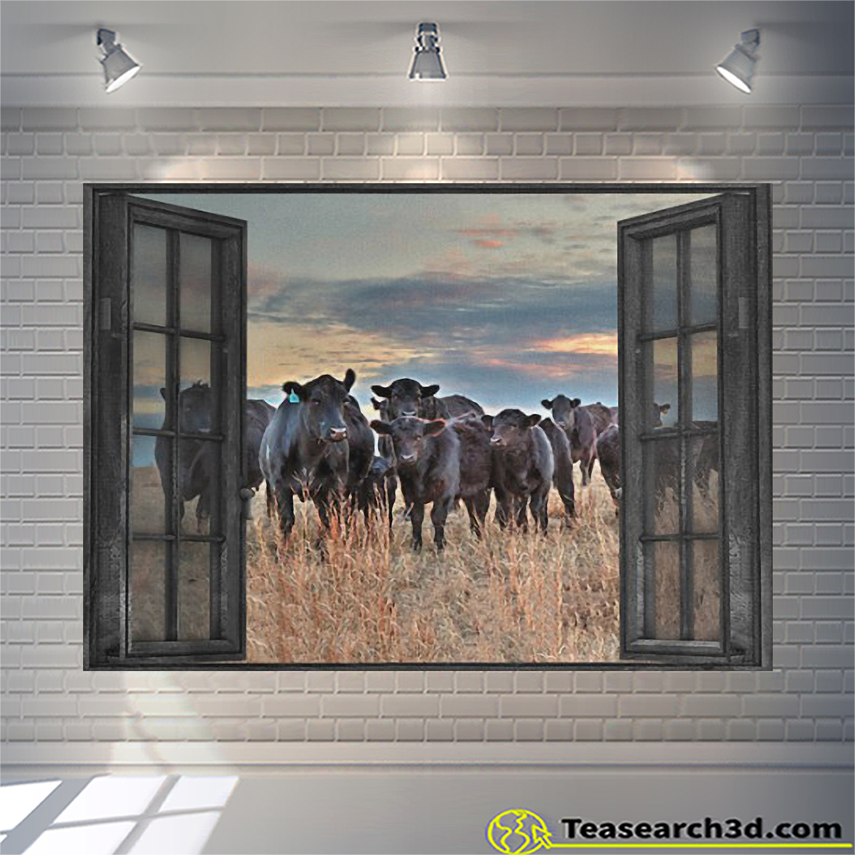 Cow by the window canvas 1