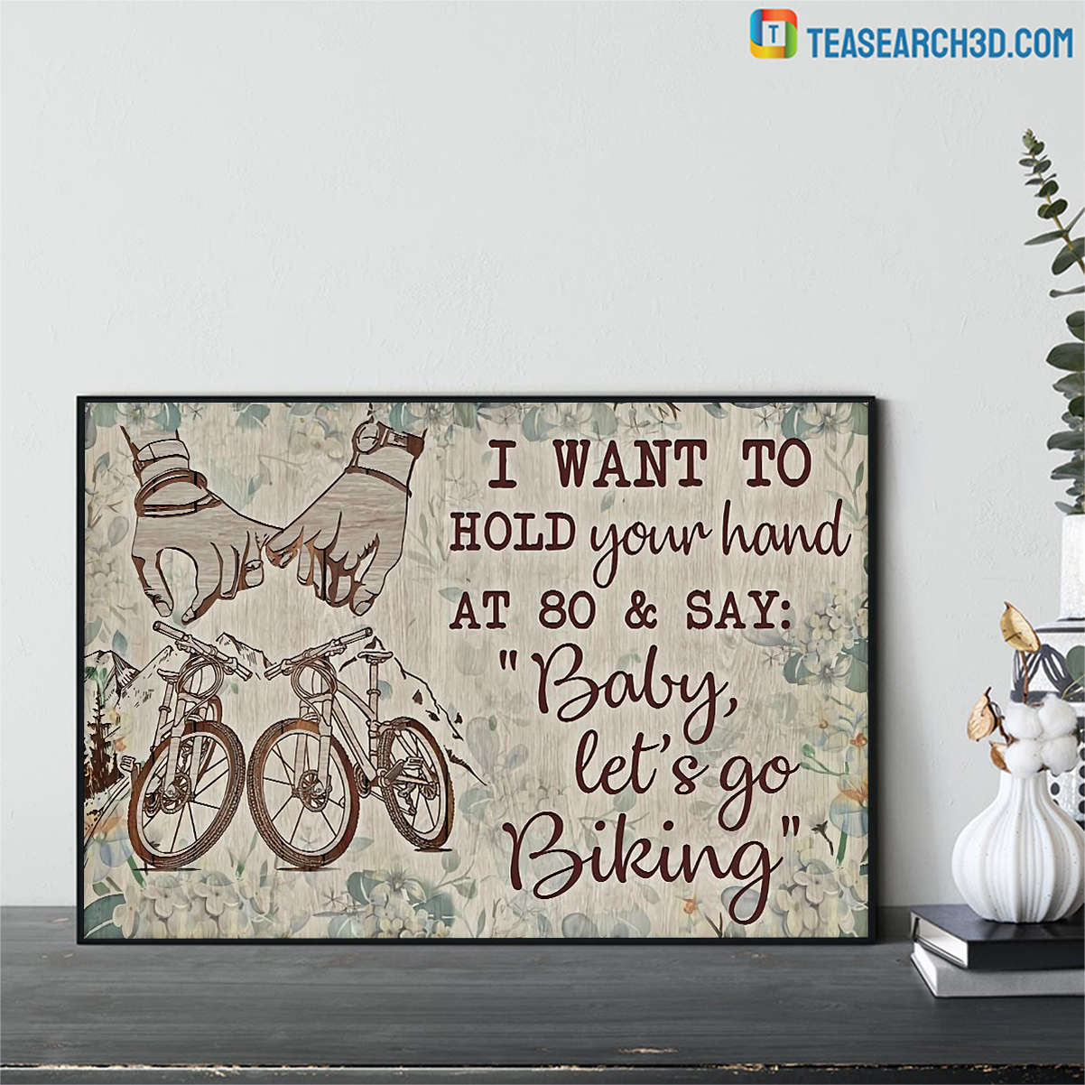 Cycling I want to hold your hand poster A2