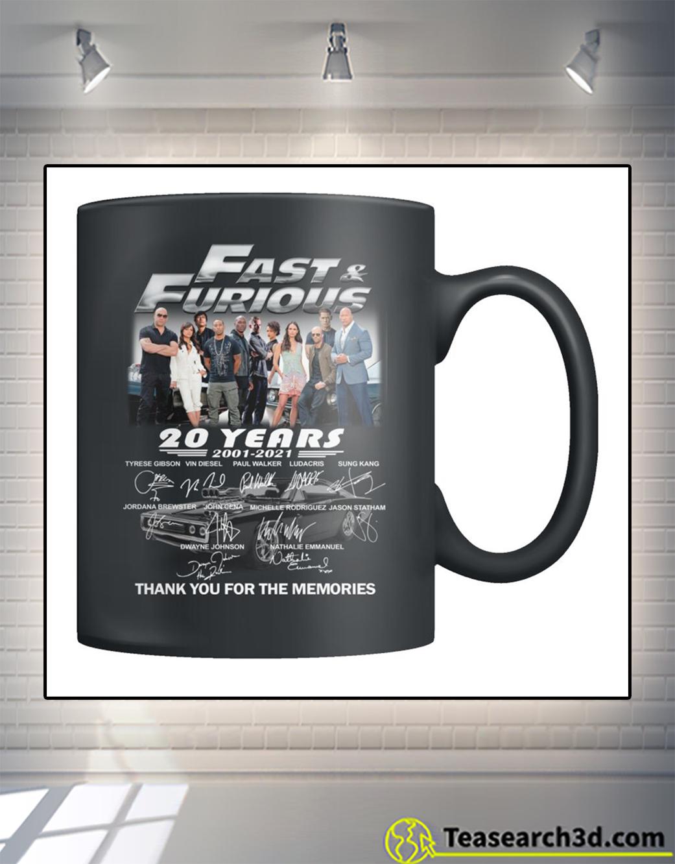 Fast and furious signature 20 years mug 11oz